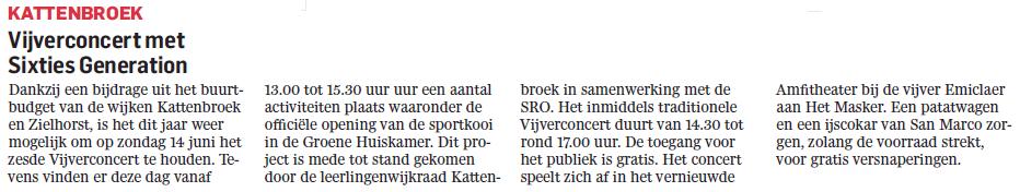 Algemeen Dagblad 10 juni 2015