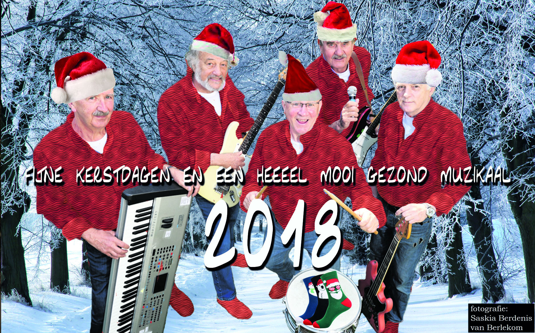 Hein, Jacques, Steef, Bert, Henk, Mary, Jaap en Eelke